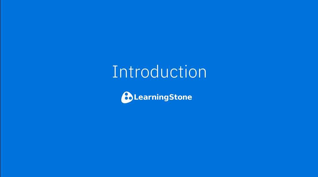LearningStone General Introduction