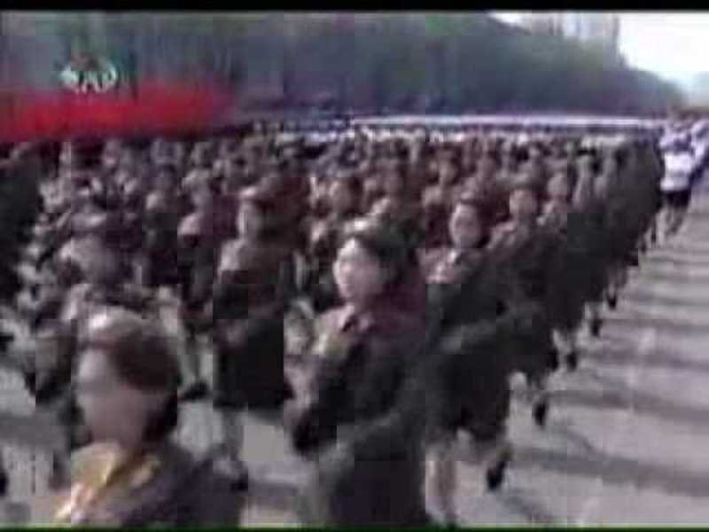 North Korean Army Choir sing Christmas song in English
